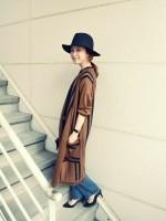 2015秋冬トレンド羽織るだけでいい女風!ロングアウターの着こなし術