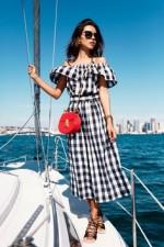 【しまむら】ギンガムチェックブラウス 30代におすすめ!春夏レディースファッションコーデ